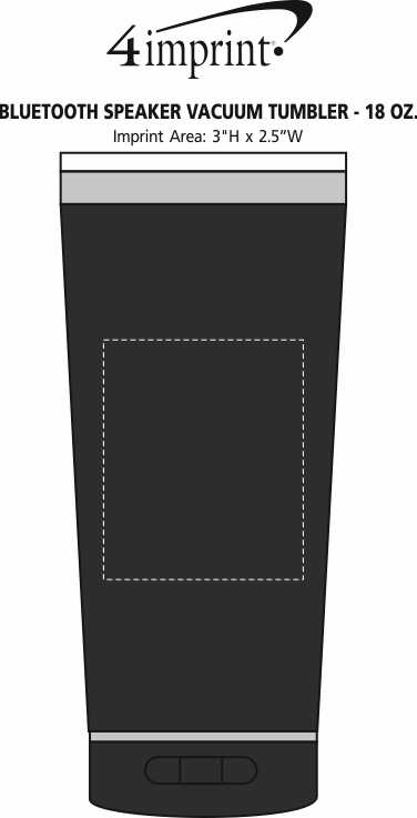 Imprint Area of Bluetooth Speaker Vacuum Tumbler - 18 oz.