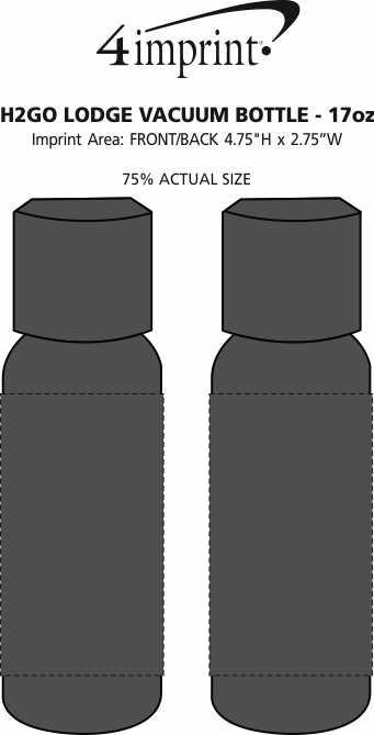 Imprint Area of h2go Lodge Vacuum Bottle - 17 oz.