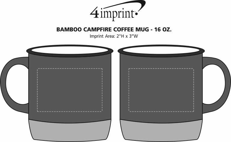Imprint Area of Bamboo Campfire Coffee Mug - 16 oz.