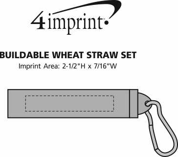 Imprint Area of Buildable Plastic Straw Set - 24 hr