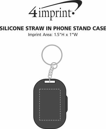 Imprint Area of Silicone Straw in Phone Stand Case