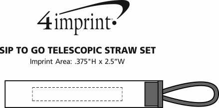 Imprint Area of Sip To Go Telescopic Straw Set