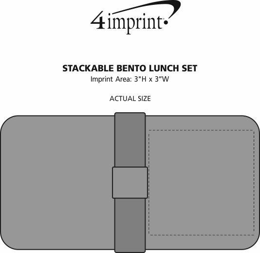 Imprint Area of Stackable Bento Lunch Set