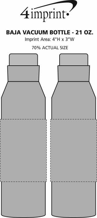 Imprint Area of Baja Vacuum Bottle - 21 oz.