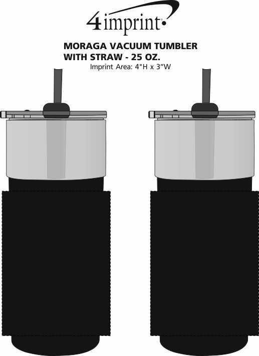 Imprint Area of Moraga Vacuum Tumbler with Straw - 25 oz.