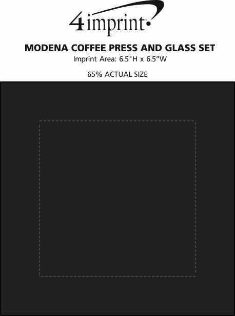 Imprint Area of Modena Coffee Press and Glass Set