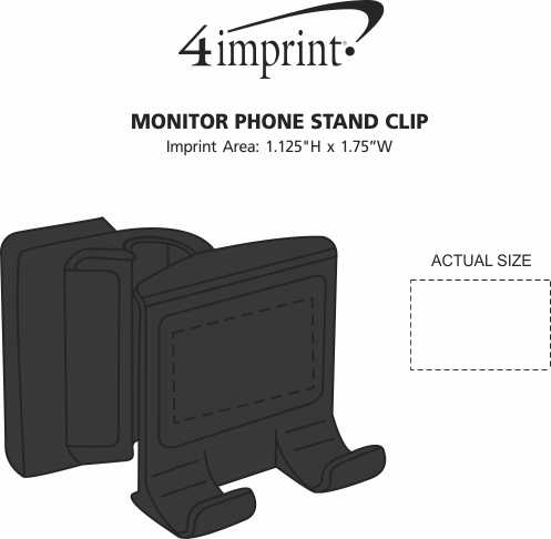 Imprint Area of Monitor Phone Stand Clip