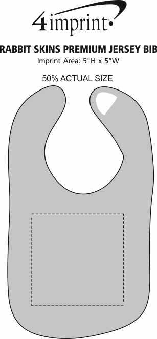Imprint Area of Rabbit Skins Premium Jersey Bib