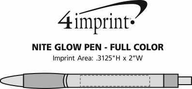 Imprint Area of Nite Glow Pen - Full Color