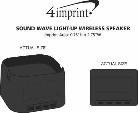 Imprint Area of Sound Wave Light-Up Wireless Speaker