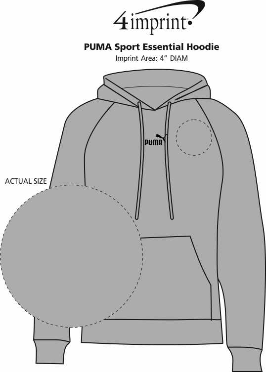 Imprint Area of PUMA Sport Essential Hoodie