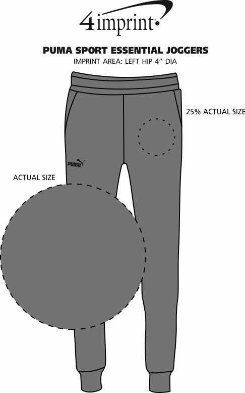 Imprint Area of PUMA Sport Essential Joggers