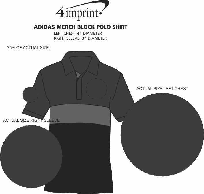 Imprint Area of adidas Merch Block Polo Shirt