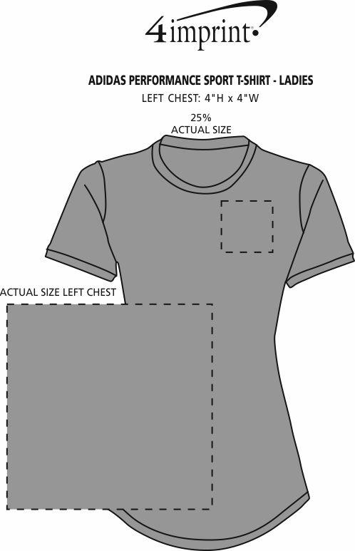 Imprint Area of adidas Performance Sport T-Shirt - Ladies'