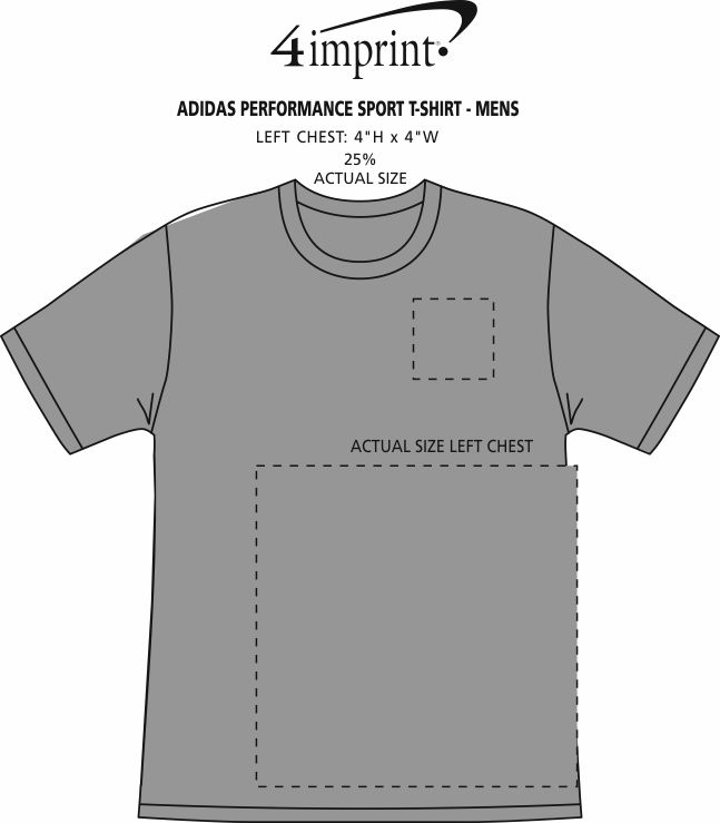 Imprint Area of adidas Performance Sport T-Shirt - Men's