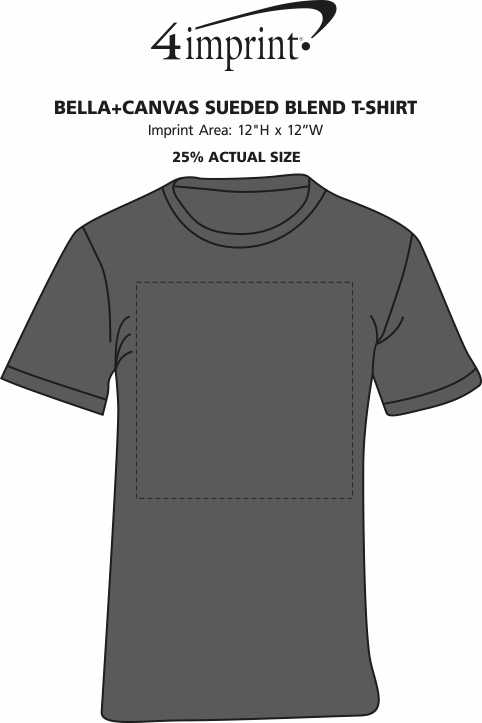 Imprint Area of Bella+Canvas Sueded Blend T-Shirt