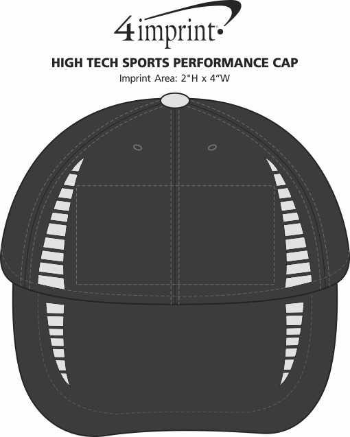 Imprint Area of High Tech Sports Performance Cap