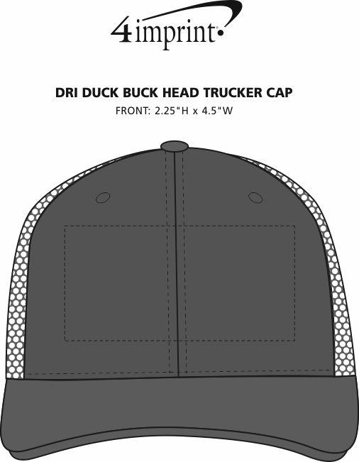Imprint Area of DRI DUCK Buck Head Trucker Cap