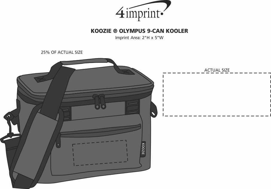 Imprint Area of Koozie® Olympus 9-Can Kooler