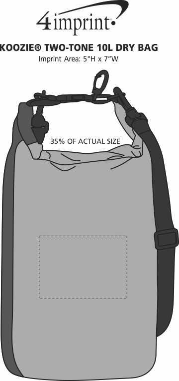 Imprint Area of Koozie® Two-Tone 10L Dry Bag