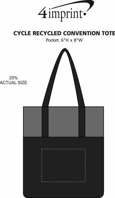 Imprint Area of Cycle Recycled Convention Tote