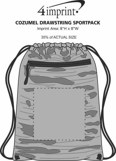 Imprint Area of Cozumel Drawstring Sportpack