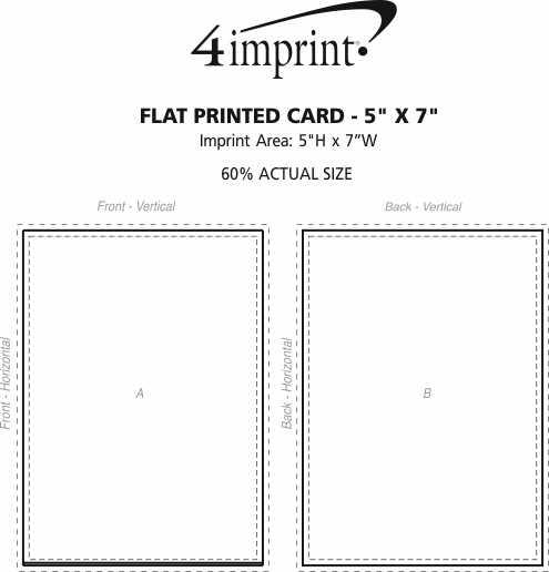 "Imprint Area of Flat Printed Card - 5"" x 7"""