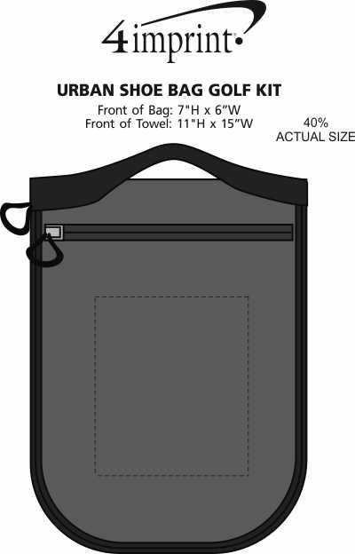 Imprint Area of Urban Shoe Bag Golf Kit