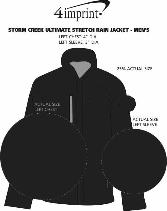 Imprint Area of Storm Creek Ultimate Stretch Rain Jacket - Men's