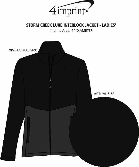 Imprint Area of Storm Creek Luxe Interlock Jacket - Ladies'