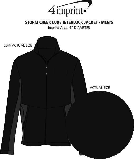 Imprint Area of Storm Creek Luxe Interlock Jacket - Men's