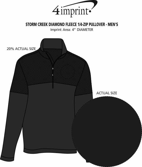 Imprint Area of Storm Creek Diamond Fleece 1/4-Zip Pullover - Men's