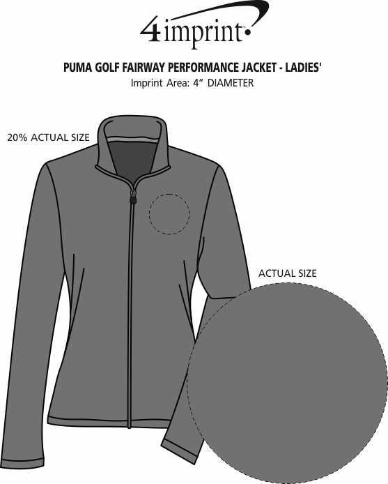 Imprint Area of PUMA Golf Fairway Performance Jacket - Ladies'
