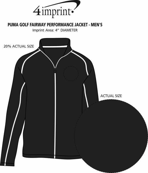 Imprint Area of PUMA Golf Fairway Performance Jacket - Men's