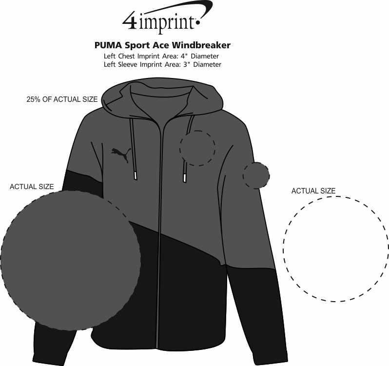 Imprint Area of PUMA Sport Ace Windbreaker
