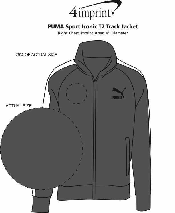 Imprint Area of PUMA Sport Iconic T7 Track Jacket