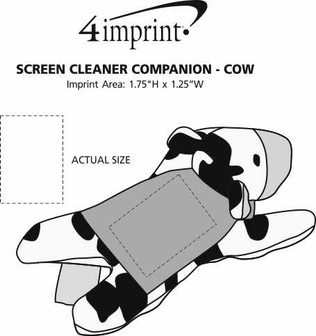 Imprint Area of Screen Cleaner Companion - Cow