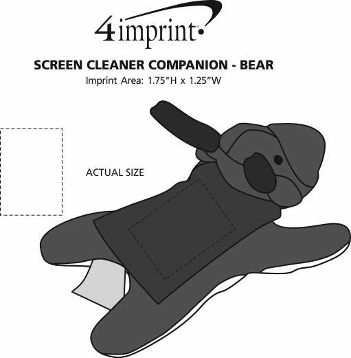 Imprint Area of Screen Cleaner Companion - Moose