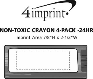 Imprint Area of Crayon 4-Pack - 24 hr