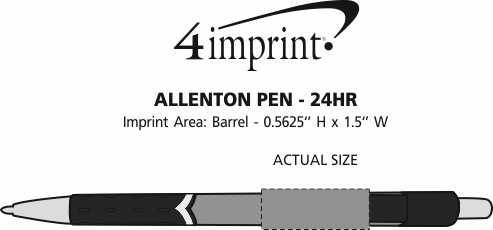 Imprint Area of Allenton Pen - 24 hr