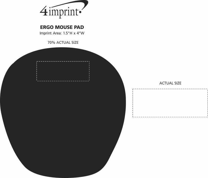 Imprint Area of Ergo Mouse Pad