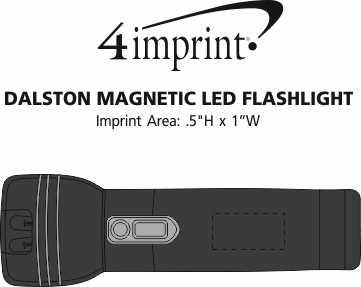 Imprint Area of Dalston Magnetic LED Flashlight