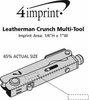 Imprint Area of Leatherman Crunch Multi-Tool