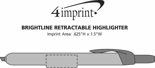 Imprint Area of Brightline Retractable Highlighter