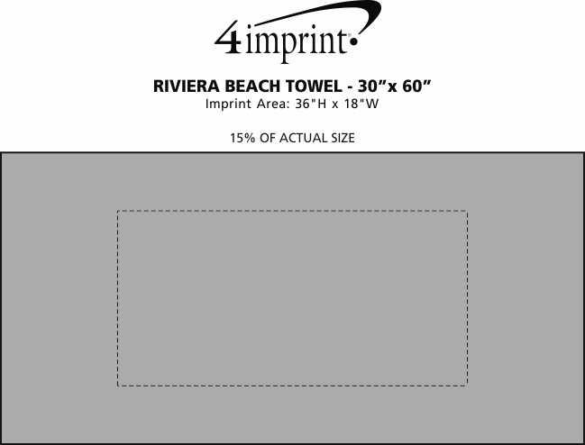 "Imprint Area of Riviera Beach Towel - 30"" x 60"""