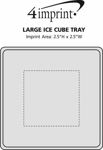 Imprint Area of Large Ice Cube Tray