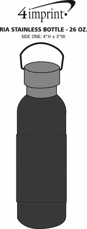 Imprint Area of Ria Stainless Bottle - 26 oz.