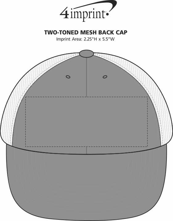Imprint Area of Two-Toned Mesh Back Cap