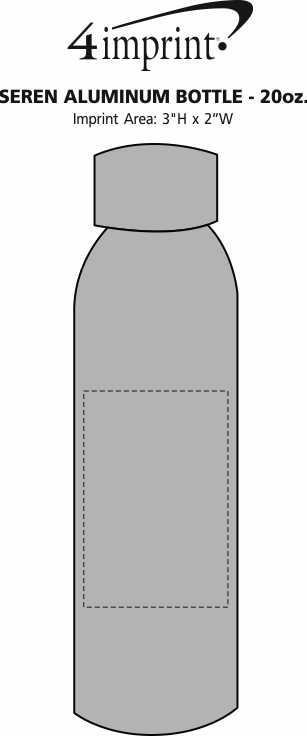 Imprint Area of Seren Aluminum Bottle - 20 oz.