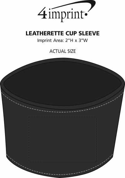 Imprint Area of Leatherette Cup Sleeve